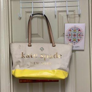 Kate Spade canvas tote